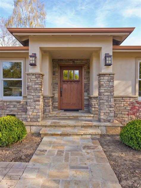 Front Door Remodel Craftsman Front Door Home Design Ideas Pictures Remodel And Decor
