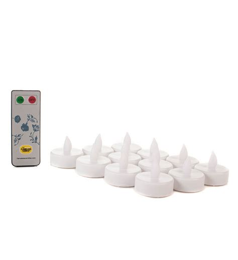 remote tea lights set of 12 remote controlled flameless tealights remote