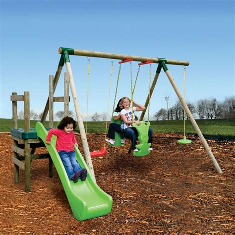 tike swing and slide backyard swing sets plans