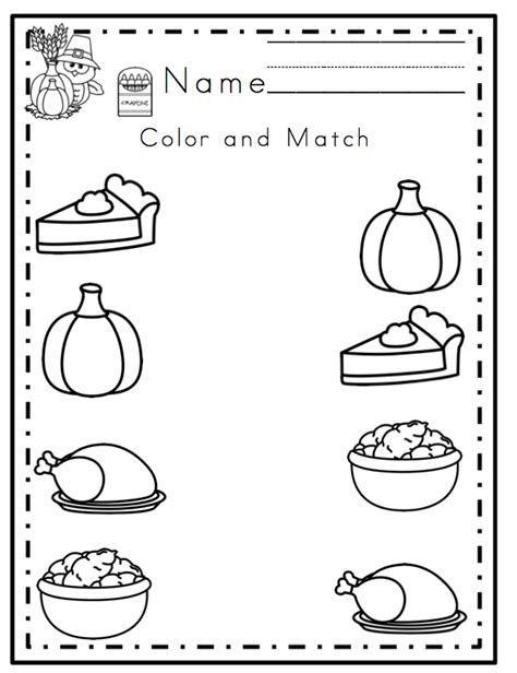 free preschool worksheets for thanksgiving free