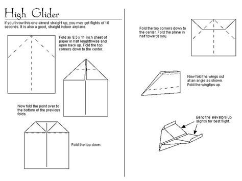 How To Make Paper Airplane Glider Step By Step - how to make paper airplanes that go far make paper