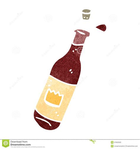 cartoon white wine retro cartoon wine bottle stock photo image 37602520