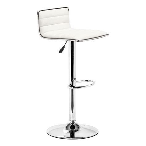 Black And White Bar Stools by White Black Or Grey And Chrome Ribbed Adjustable Bar Stool