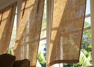 Diy Burlap Window Treatments - diy burlap window coverings burke decor