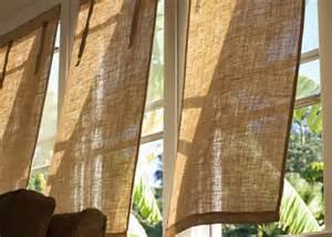 Diy Burlap Window Coverings Burke Decor » Home Design 2017