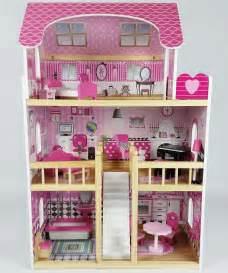 Dollhouse Bedroom Furniture Butternut Large Wooden Dolls House With Accessories