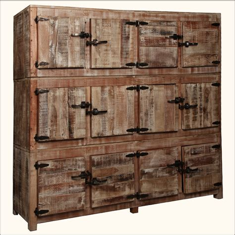 Large Wooden Storage Cabinets by 12 Square Cubbies Reclaimed Wood Large Wall Unit Storage