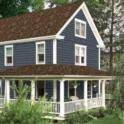 exterior paint colors with brown roof brown roof blue siding white trim house remodel