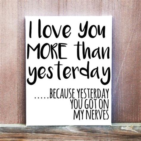 wedding nerves quotes i you more than yesterday quote painted