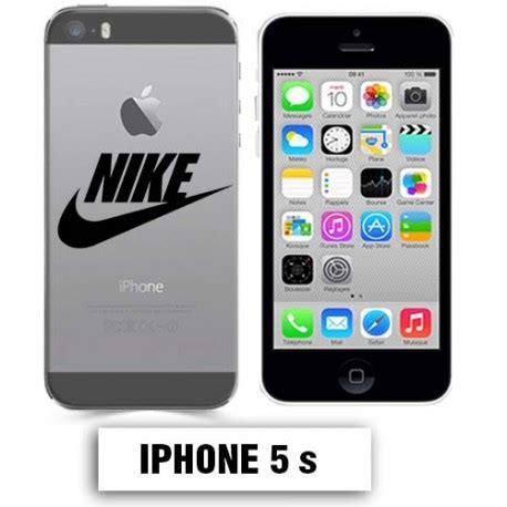 coque transparente iphone 5 5s nike noir lakokine