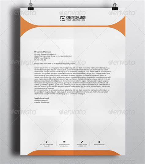 letterhead design template psd 42 company letterhead templates sle templates