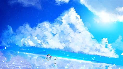 anime landscape android wallpaper download 1920x1080 anime landscape clouds hatsune miku