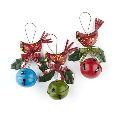 cardinal jingle bell christmas ornament christmas