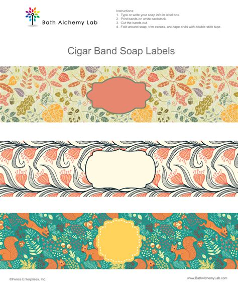 cigar band template free soap cigar band label wrappers fall designs bath