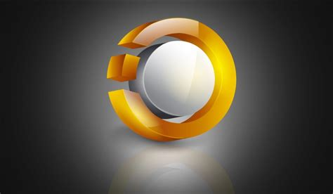 design logo photoshop or illustrator illustrator 3d logo design cg area