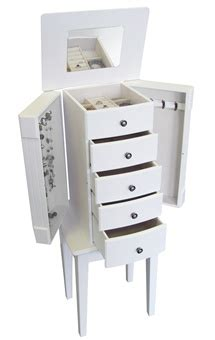 White Standing Jewelry Armoire by White Floor Standing Jewelry Box Armoire