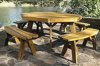 Octagon Patio Table Plans Octagon Picnic Table Plans With Detached Benches
