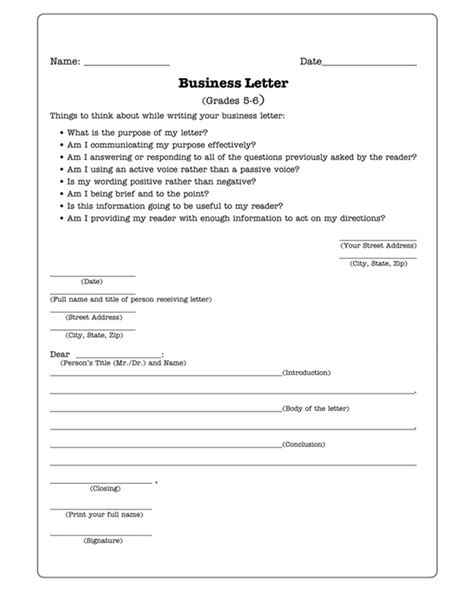 business letters worksheets business letters practice writing worksheet for