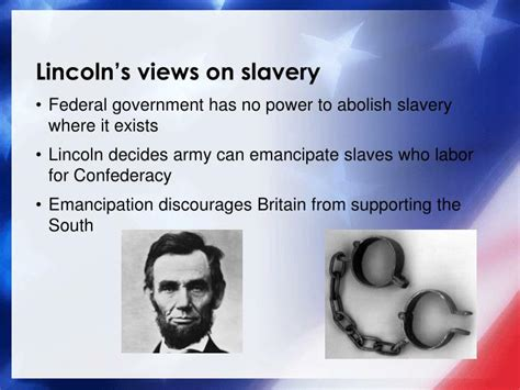 lincoln view on slavery ppt the american civil war 1861 1865 aks38 ch 11