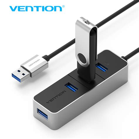 Rexus 4 Port Usb Hub 3 0 Speed 5 Gbps Rxh 323 Limited vention usb 3 0 hub speed aluminum 4 port powered usb hub splitter otg hub for macbook air
