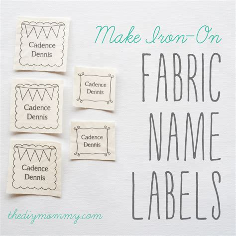 Printable Iron On Fabric Labels | make diy iron on fabric name labels the diy mommy