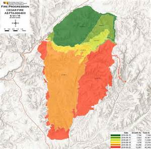 fires in arizona map cedar near show low arizona wildfire today