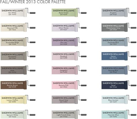 pottery barn fall winter 2013 color palette at sherwin williams paint