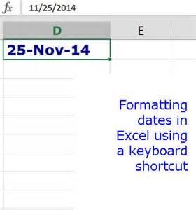 formatting date and time excel 2013 training format dates in excel using shortcut keys