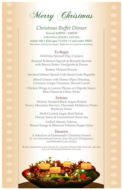 christmas eve buffet menu ideas 10 trendy buffet menu ideas