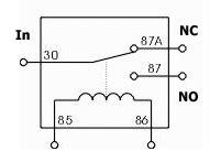 12v relay wiring diagram symbol 12v get free image about