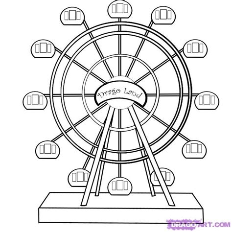 step 6 how to draw a ferris wheel
