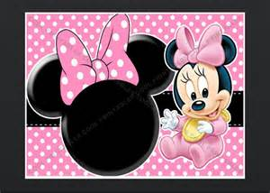 minnie mouse blank invitation birthday thank you by