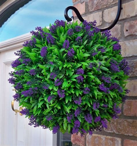 Best Artificial Purple Lavender Flower Ball Hanging