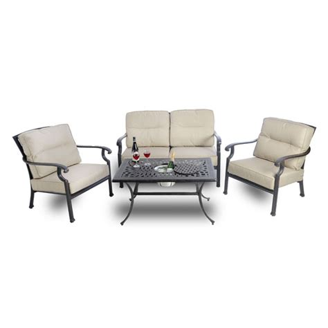 sofa and coffee table set kensington firepit grill sofa set with coffee table
