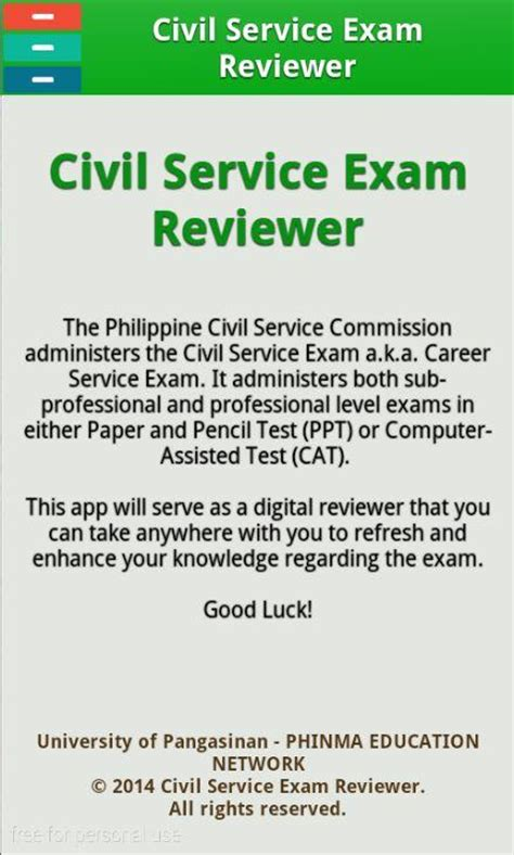 civil service reviewer android apps on play