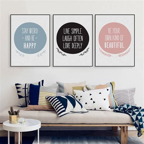 Frame Quotes Motivational Poster Work Big 4r modern nordic motivational quote a4 canvas print