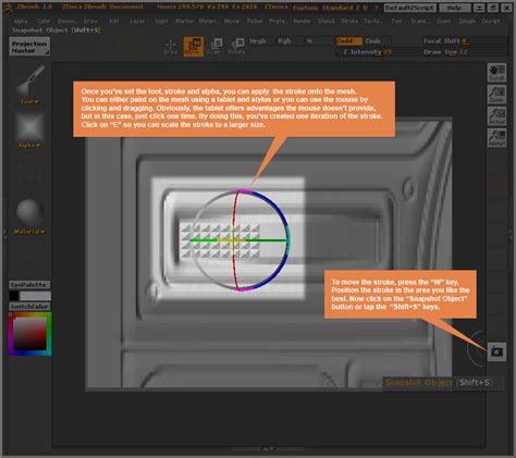 zbrush projection tutorial texture to mesh in zbrush 2