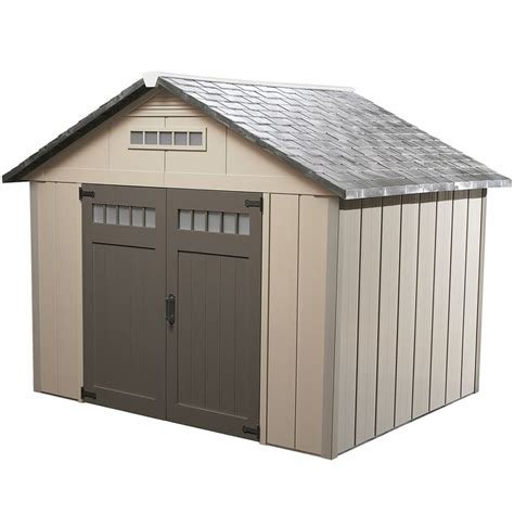 shop homestyles premier gable storage shed common  ft   ft interior dimensions  ft