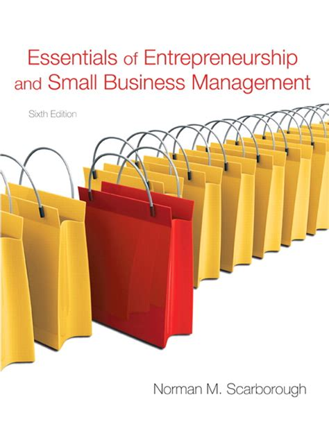 Essentials Of Entrepreneurship And Small Business Management scarborough essentials of entrepreneurship and small