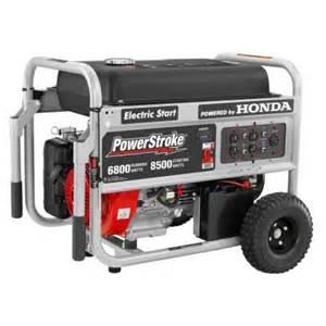 honda generators home depot powerstroke 6 800 watt gasoline powered electric start