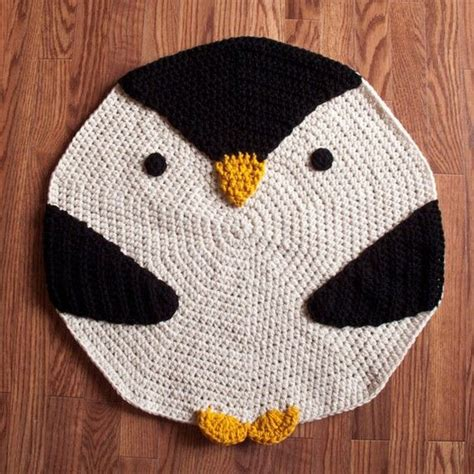 penguin rug crochet penguin rug crochet ideas