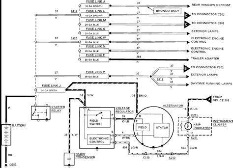 wiring for ford external regulator alternator diagram