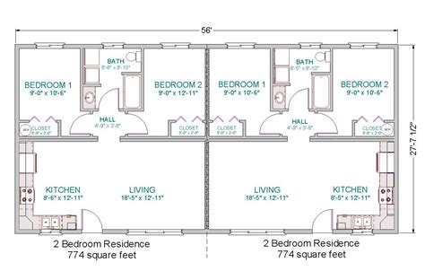 2 bedroom 1 bath duplex floor plans modular duplex tlc modular homes