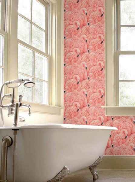 flamingo wallpaper albany flamingo wallpaper trend we love pink flamingos lonny