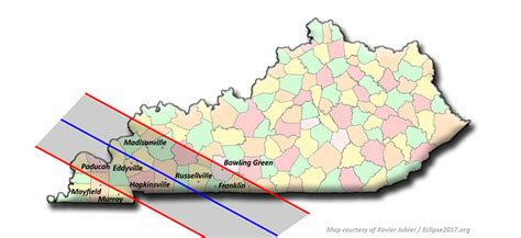 kentucky map eclipse total solar eclipse 2017 kentucky local circumstances