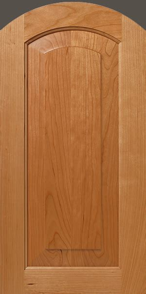 Cherry Raised Panel Cabinet Door With Radius Top Walzcraft Radius Cabinet Doors