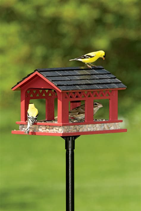 covered bridge bird feeder red bird feeder gardeners com