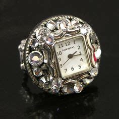Bonia Silver Gold Cover White a rock and poetic time ring by