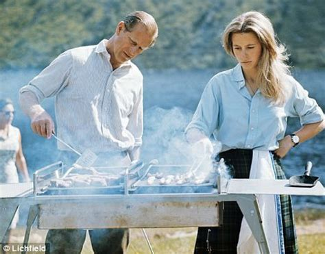 hair stylist anne prince prince philip and princess anne barbecuing in 1972 the