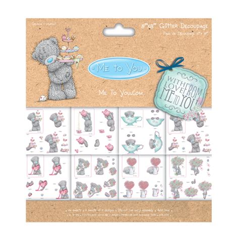 Me To You Decoupage - me to you with 8x8 decoupage pad